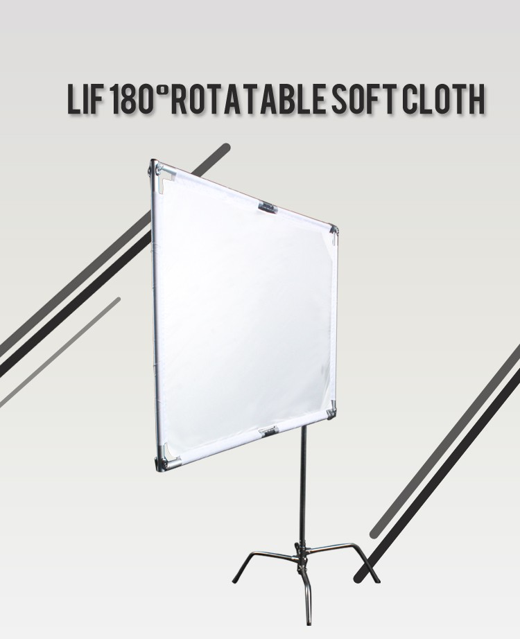 Photography/Video Studio Stainless Flag/180 degree Rotable Panel Reflector with Soft Cloth, photographic accessories