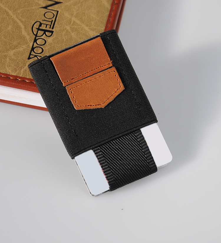 Low price Ultra Slim Elastic Band Minimalist Front Pocket Men's Wallet Small Wallet
