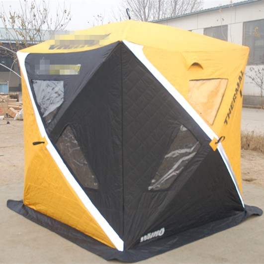High quality triple-layer fabric heat insulation winter ice cube fishing shelter <strong>tent</strong>