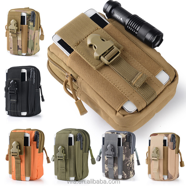 Universal Outdoor Tactical Holster Military Molle Hip Waist Belt Bag
