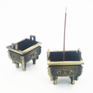 Chinese Handmade Antique Style Metal Censer Custom Incense Burner Quadripod for Decoration Home/Gift