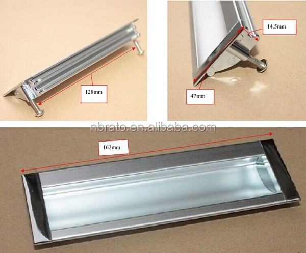 RCL-120 aluminum recessed cabinet door <strong>handle</strong>