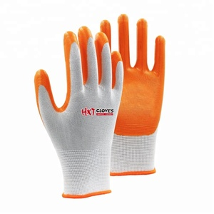 13G Hand Grip Nitrile Garden Smooth Dipping Gloves/ Nitrile Coated Gloves