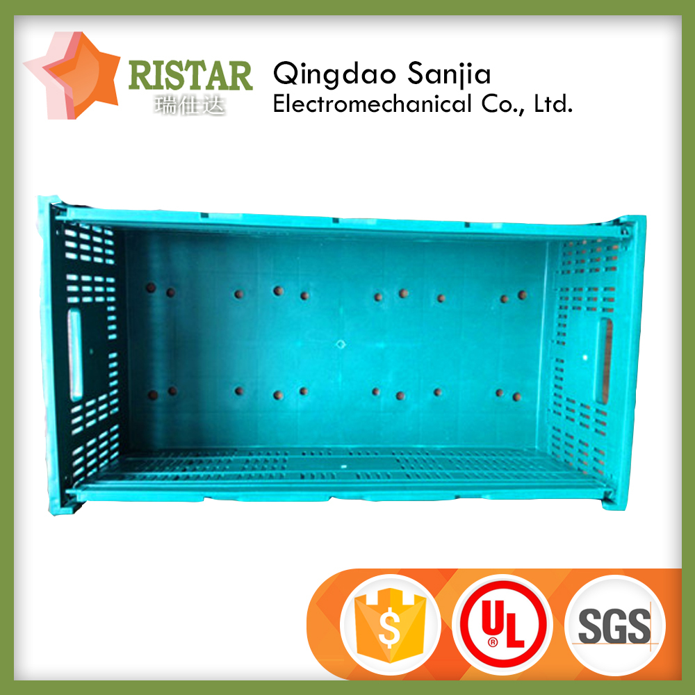 100% virgin PP material folding storage box fruit crate collapsible cheapest price Plastic Boxes