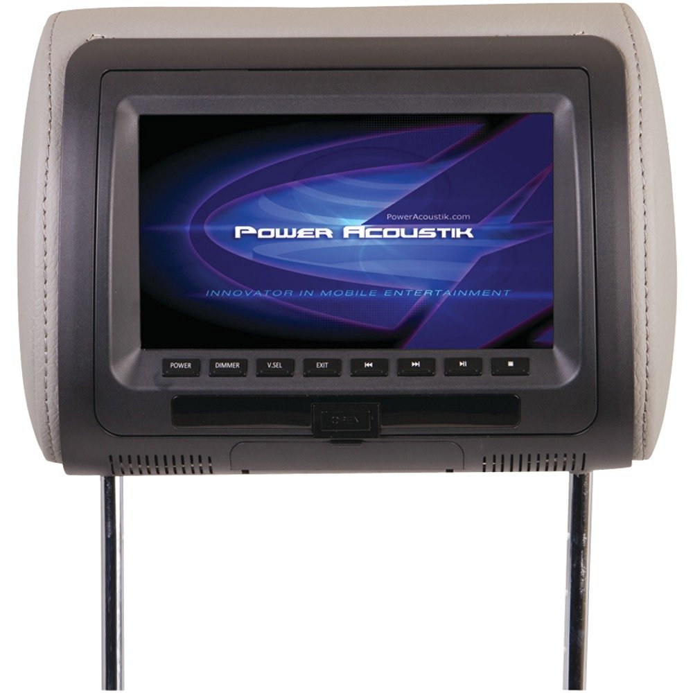 """1 - 7"""" Universal Headrest Monitor with DVD, 7"""" TFT LCD screen with built-in DVD , USB & SD(TM) Card ports, HDVD-71CC"""