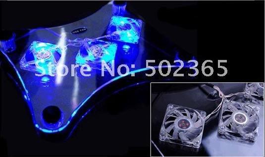 Usb лэптоп холодильная камера ноутбук охлаждение площадку стойка с 3 вентиляторы и синий светодиодные