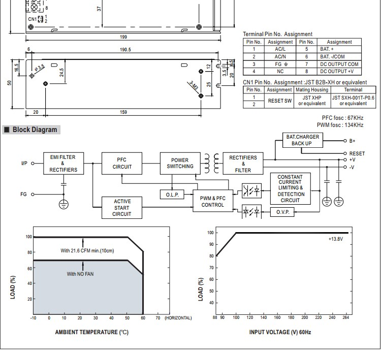 Mean Well Power Supply Circuit Diagram | Mean Well Single Output Power Supply With Ups Function Ad 155a 155w