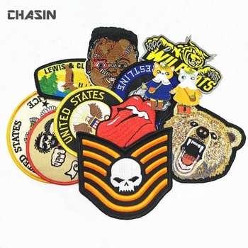High quality custom your own iron on embroidered patches for clothing