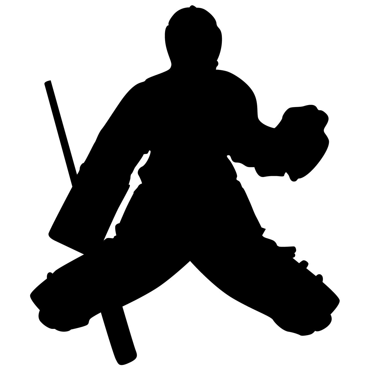Hockey Wall Sticker Decal 6 - Decal Stickers and Mural for Kids Boys Girls Room and Bedroom. Sport Wall Art for Home Decor and Decoration - Ice Hockey Player Silhouette Mural