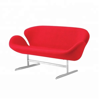 European Style Stainless Steel Frame Cover Fabric Love Seat Sofa Red 2  Seater Swan Sofa - Buy Swan Sofa,2 Seater Sofa,Love Seat Sofa Product on ...