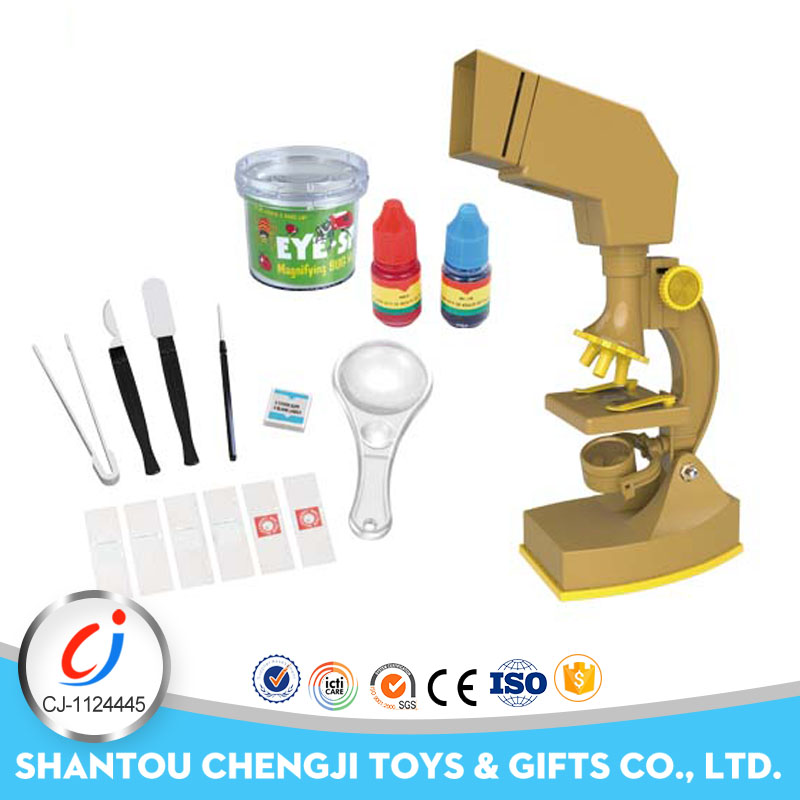 2018 plastic educational toy blue science microscope for kids
