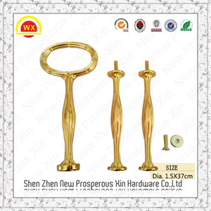 High Quality Fitting Metal Cake Stands Gold Handle DIY