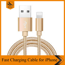 For iPhone 7 Charger Cable, New Braided Nylon Fast Charger Cable USB Fast Charging Cord for iPad