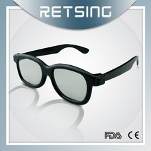 Circular polarized 3d glasses, plastic 3d spectacles