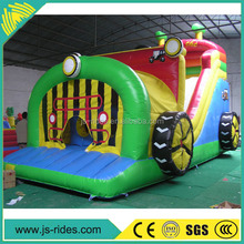 China inflatable factory Commercial grade kids outdoor fire truck inflatable bounce house for sale