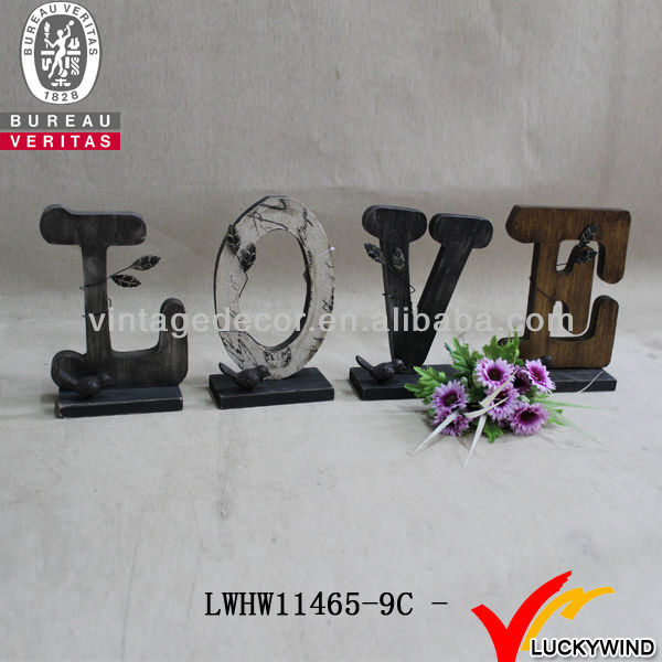 Old Vintage Wood Free Standing Alphabet Assorted Decorative Letters
