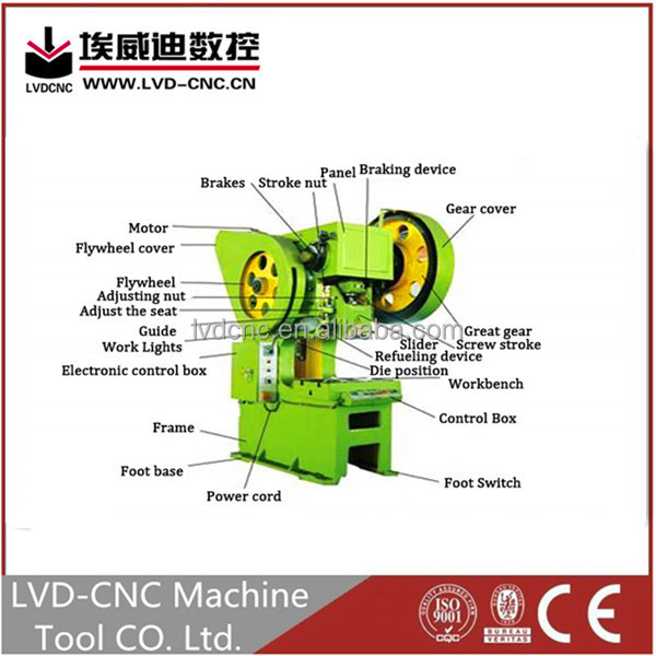 High quality competitive price mechanical press machine rotary punching machine iron power press machine