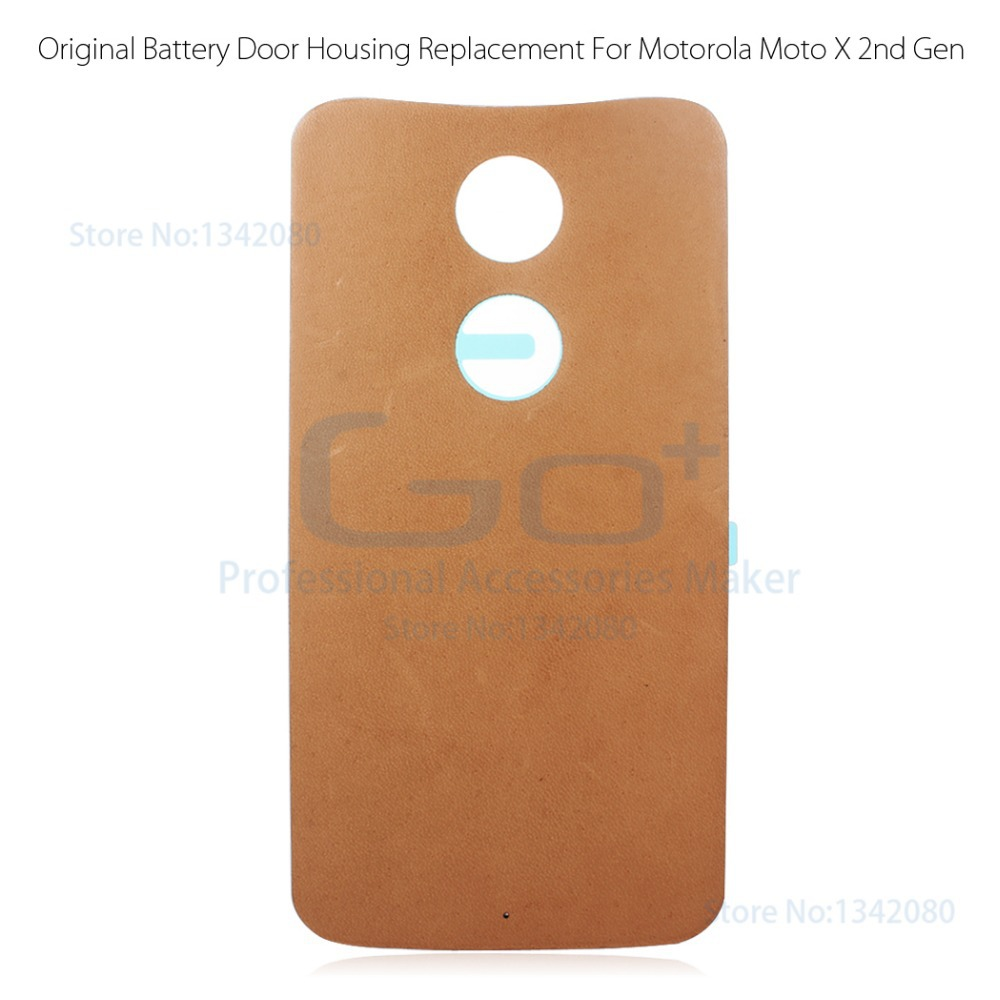 reputable site 9dd25 15cc6 Original Real Leather Battery Housing Back Cover for Motorola Moto X 2014  XT1097 2nd Gen X2 Case Battery Door Replacement