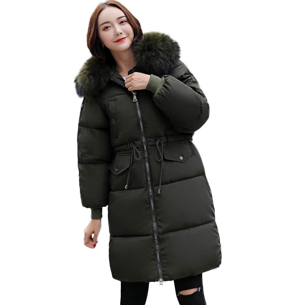 2018 New Women's Hooded Down Coat,ZYooh Winter Warm Down Cotton Parka Faux Fur Jacket Coats Quilted Outwear