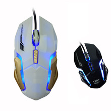 Professional Ergonomic Gaming Mouse Optical USB Wired Mouse Popular Gaming LED Backlit Mice for Desktop Laptop NGD0659