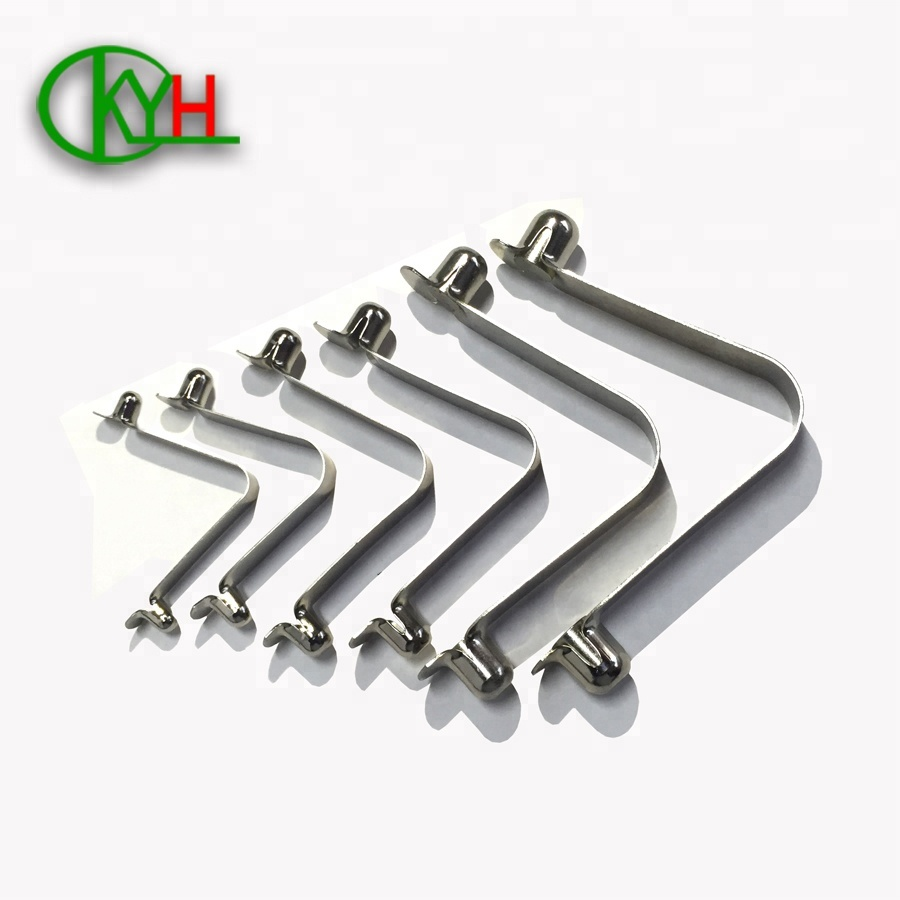 Spring Steel Tube Lock Spring V Shaped Spring Clip Double Button