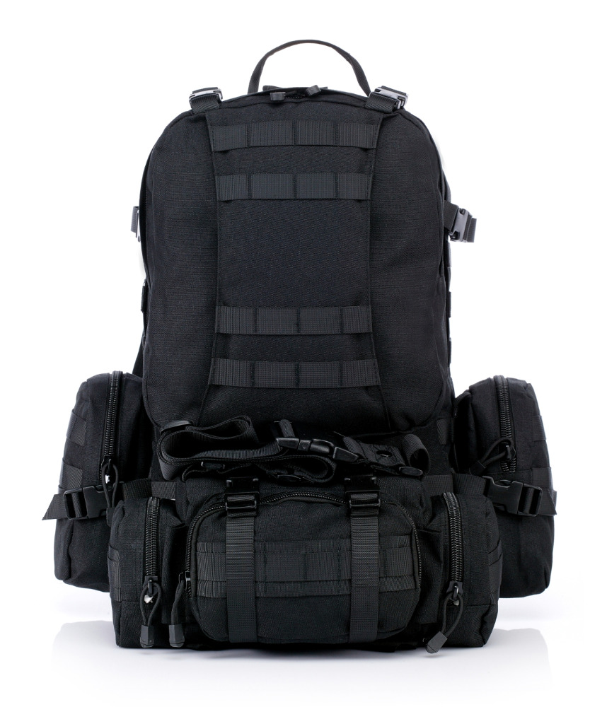 factory wholesale Chenhao 1000D waterproof oxford outdoor multipurpose black molle military tactical hunting backpack 55L