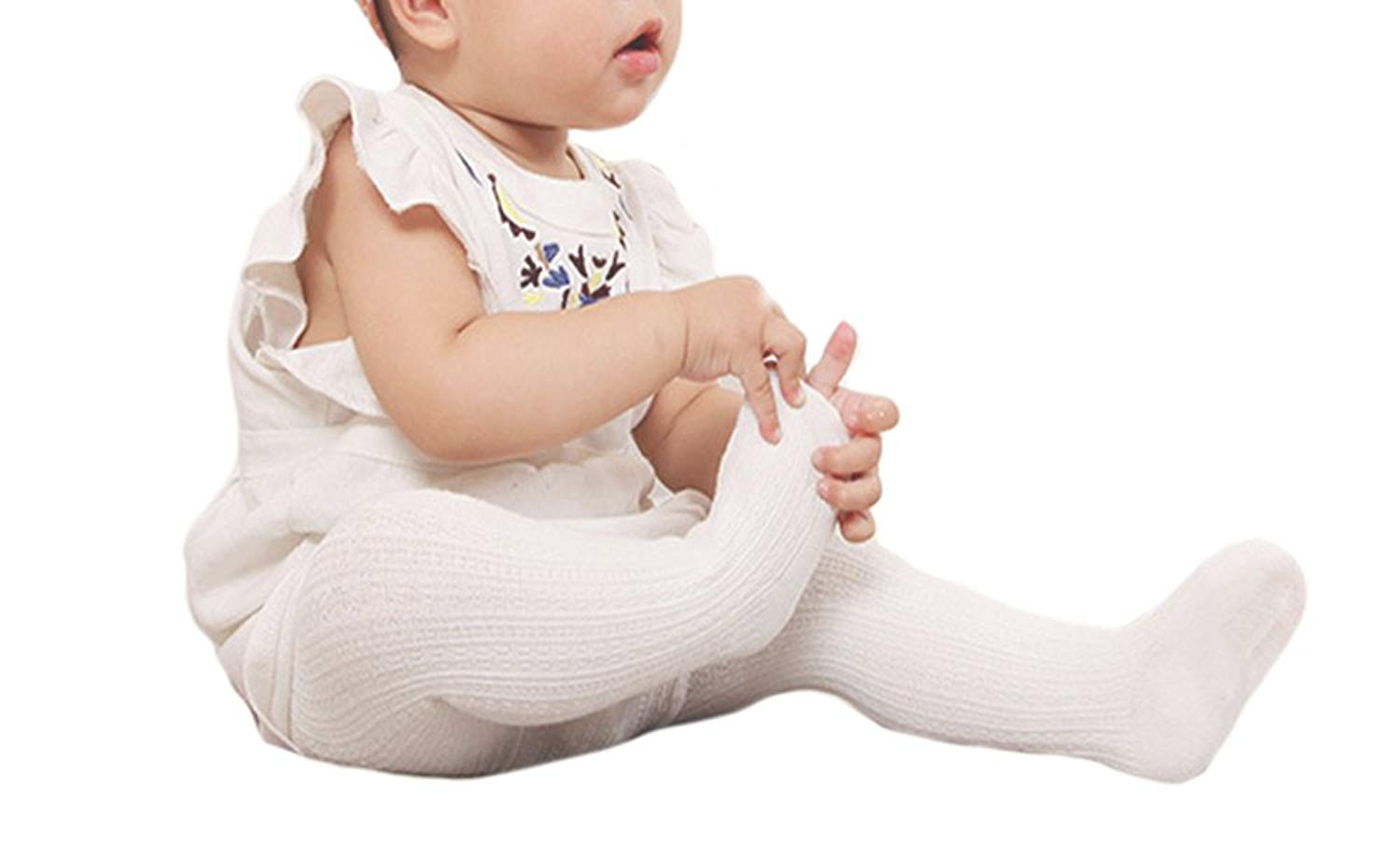 89fe3ba3dee69 Get Quotations · Tortor 1Bacha Infant Baby Kid Girls' Cable Knit Leggings  Footed Tights