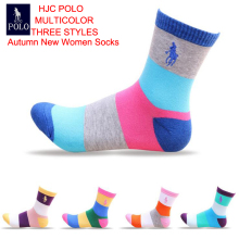 Hot ! New Fashion women socks Brand POLO meias high quality cotton Casual Slippers Tube socks women colorful sports calcetines