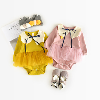 YQ253 100% cotton high quality baby girl romper baby girl body suit