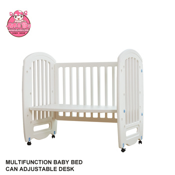 European Standard White Travel Portable Best Baby Cribs/ Baby Bed Cot Playard for Babies