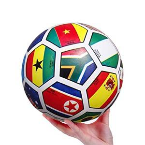 MyToy 2pc Inflatable Bouncing Ball Sport Toy Colorful The National Flag Educational Toy Ball for Baby Ball Toy 8.5''