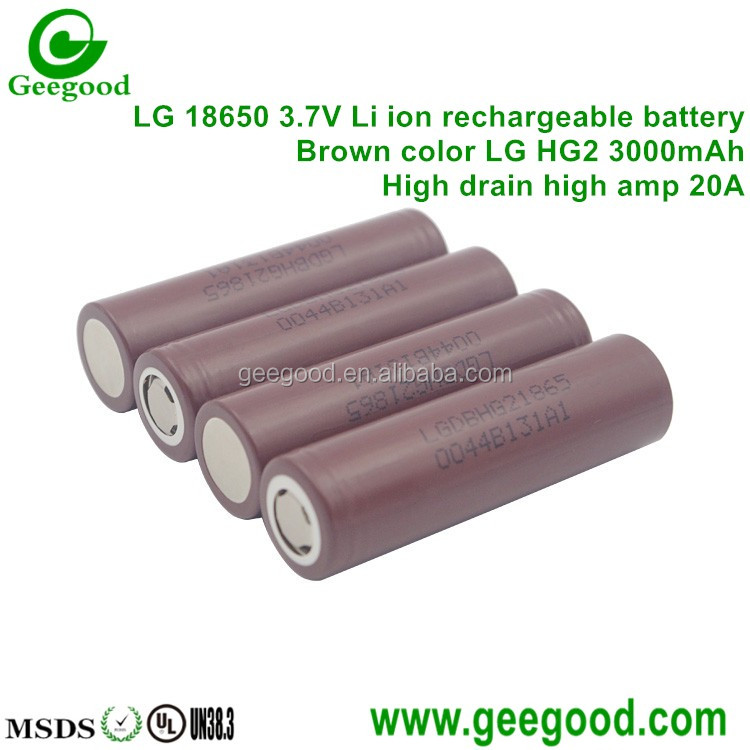 Authentic LG 18650 battery HG2 3000mAh 20A real high amp vape battery HG2
