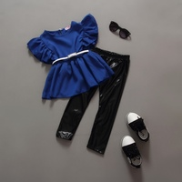 wholesale summer 2 pieces casual kids summer clothing sets girls baby boutique clothing set