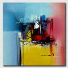 Stretched modern abstract oil painting calligraphy