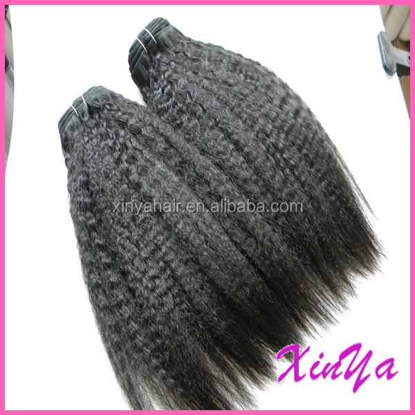 Kinky straight braiding hair, Cheap 100% unprocessed natural color virgin Brazilian hair weave