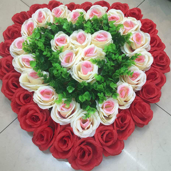 60cm handmade small silk flowers white heart shape flower wall for 60cm handmade small silk flowers white heart shape flower wall for wedding decoration mightylinksfo