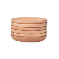 High Quality Wood Plates Tray Wooden Dinner Plates Cutlery