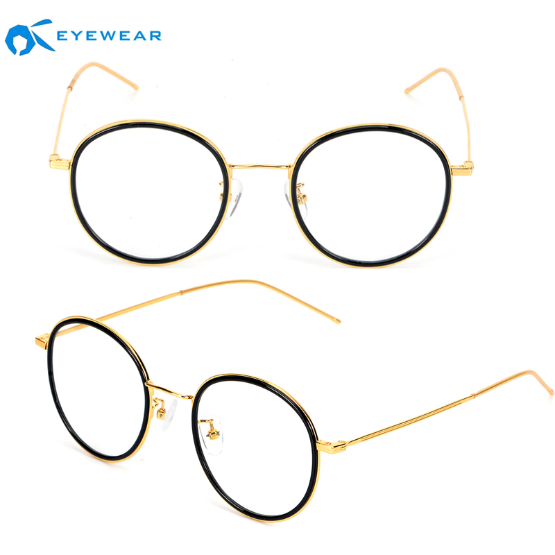 Italian Design High Quality Fashion Acetate and Metal Eyeglasses Frames No MOQ