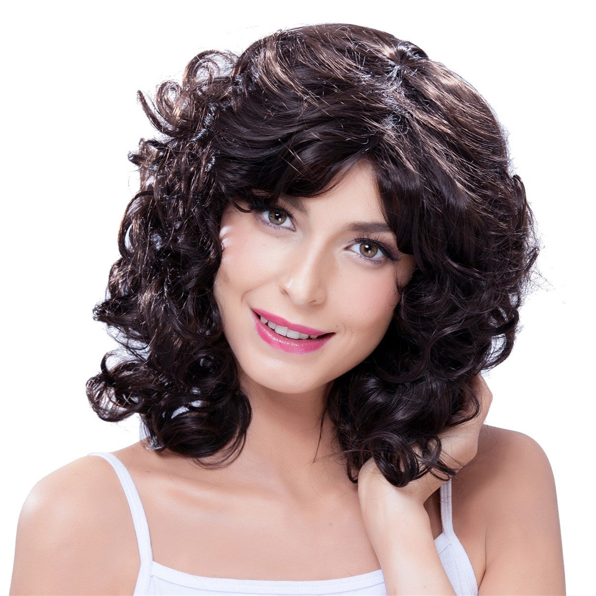 Buy Atozwig Womens Short Curly Wig For Black Women African American Short Bob Hairstyles Cheap Synthetic Natural Black Wig Afro Pelucas In Cheap Price On Alibaba Com