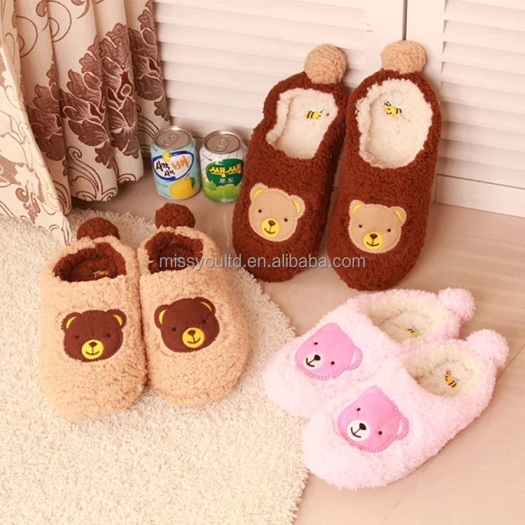 Dry floor Bear cotton cleaning shoes low MOQ wholesale