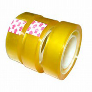 paper/plastic core tape,colored stationery tape,yellowish/clear BOPP stationery tape