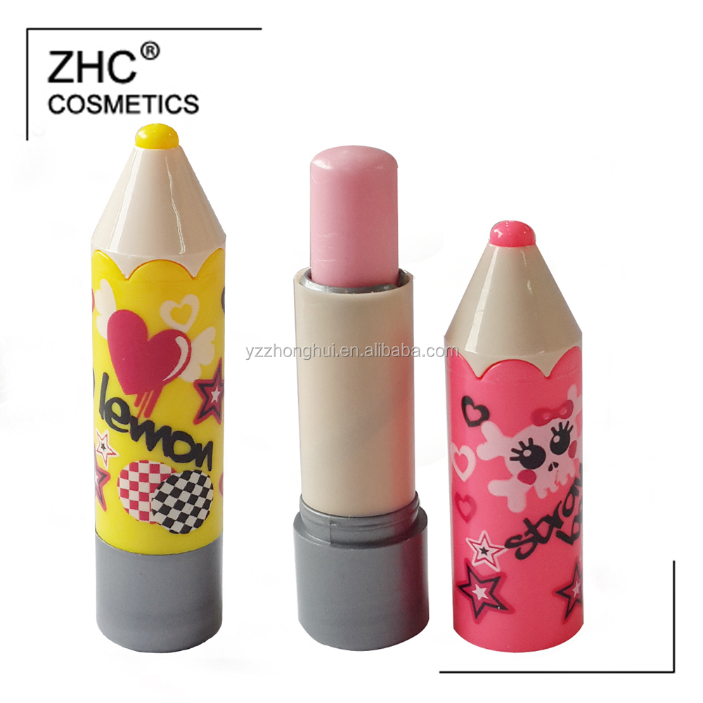 CC2428 Cute pen shape lip stick container with organic lip balm