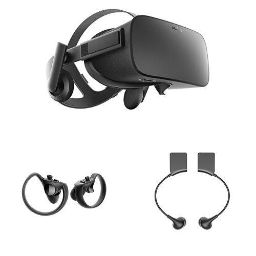 5e89abc4d50d Get Quotations · Oculus Rift Virtual Reality headset + Oculus Touch  Controllers + Oculus Rift Earphones Bundle  Old