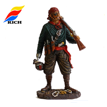 2019 Custom Made Mini Polyresin Toy Miniature Figure Resin Action Figure Anime Pirate Shaking The Little Man