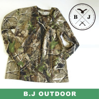Camo cotton fishing t-shirt with long sleeve from BJ Outdoor
