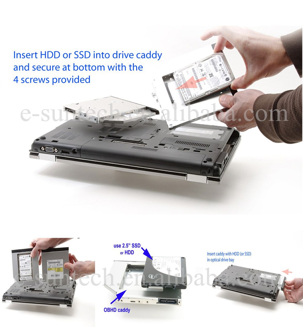 Hot Sell 2nd HDD Caddy That's 12.7mm Optical Drives With a PATA Connection & Holds IDE HDD Caddy