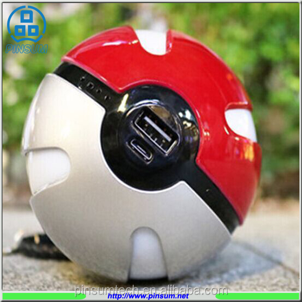 Best selling Low price Best after service pokemon power bank 10000mAh pokeball power bank