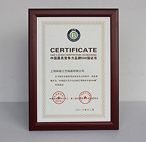 Yakri Solid Wooden Document Certificate Frames,Red Wood Diploma Prints with Clear Acrylic Front- Counter&wall Mounted