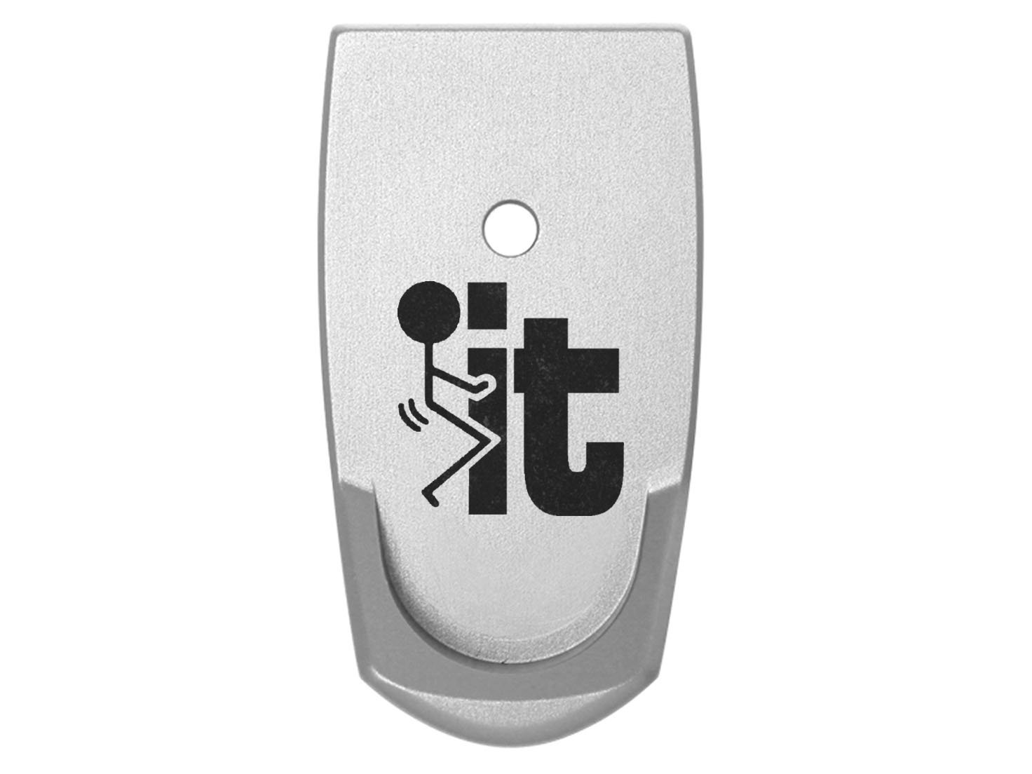 F It Stickman Grip Extension Floor Base Plate V2 Silver Silver for S&W Smith & Wesson Shield 9mm .40