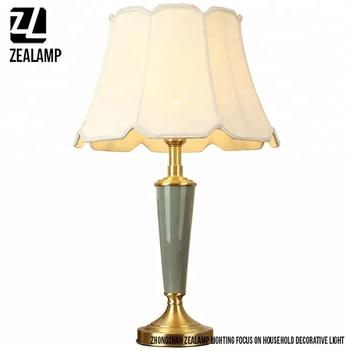 Tl8051 Zhongshan Zealamp Porcelain Desk Lamp Dia350mm Brass ...